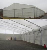 Foto: Verkauf von Hallen und Zelten