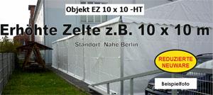 Foto: Erhöhte Zelte z.B. 10x10m NEU