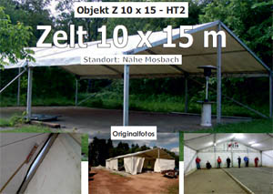 Foto: Gebrauchtes Zelt 10 x 15m